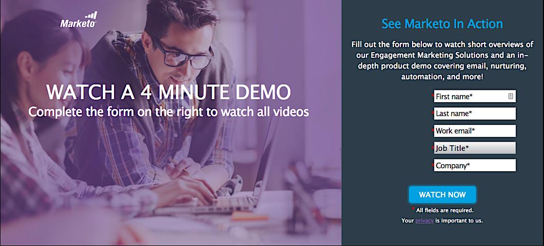 Marketo video lead magnet