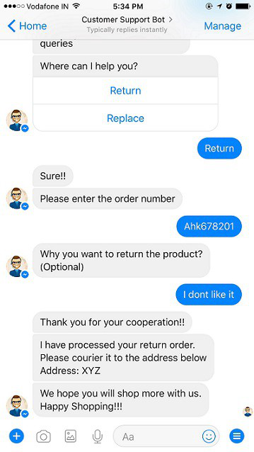 Customer support bot