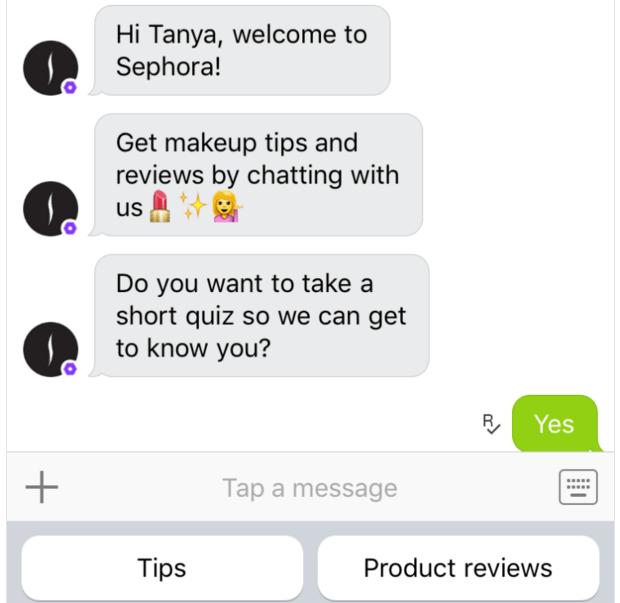 Kik Sephora Chatbot