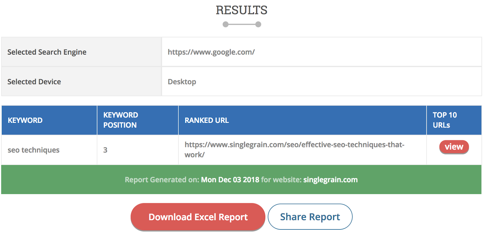 keyword rank checker - seo techniques