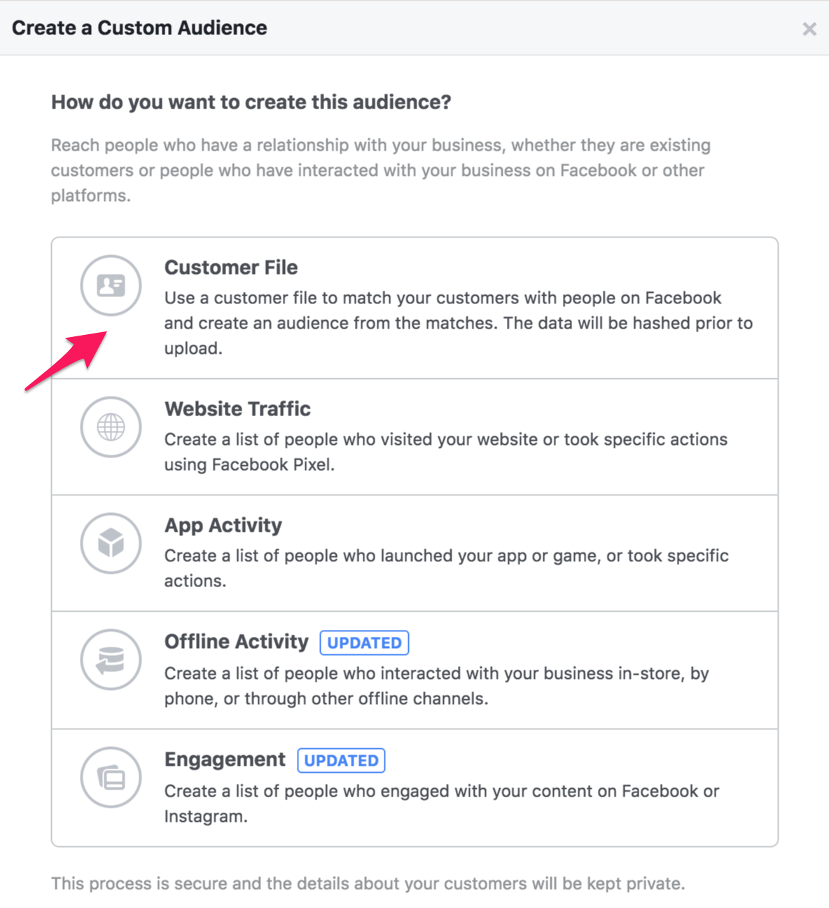 23 facebook custom audience