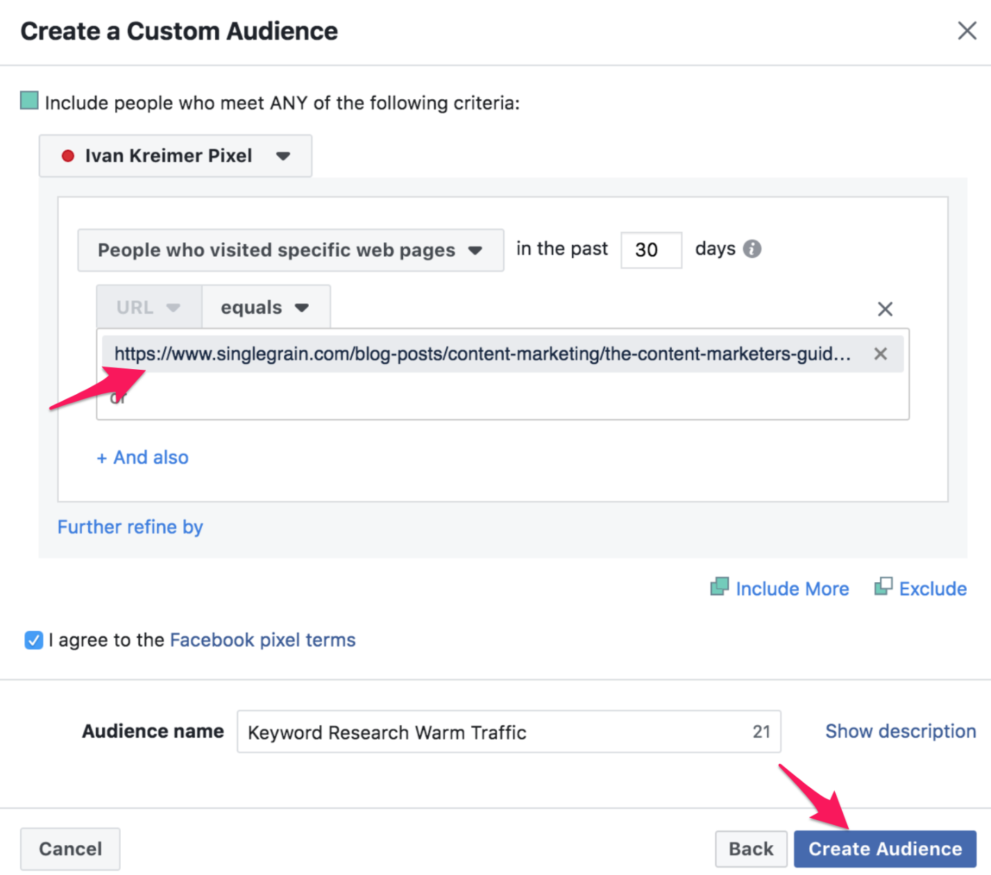 28 facebook custom audience