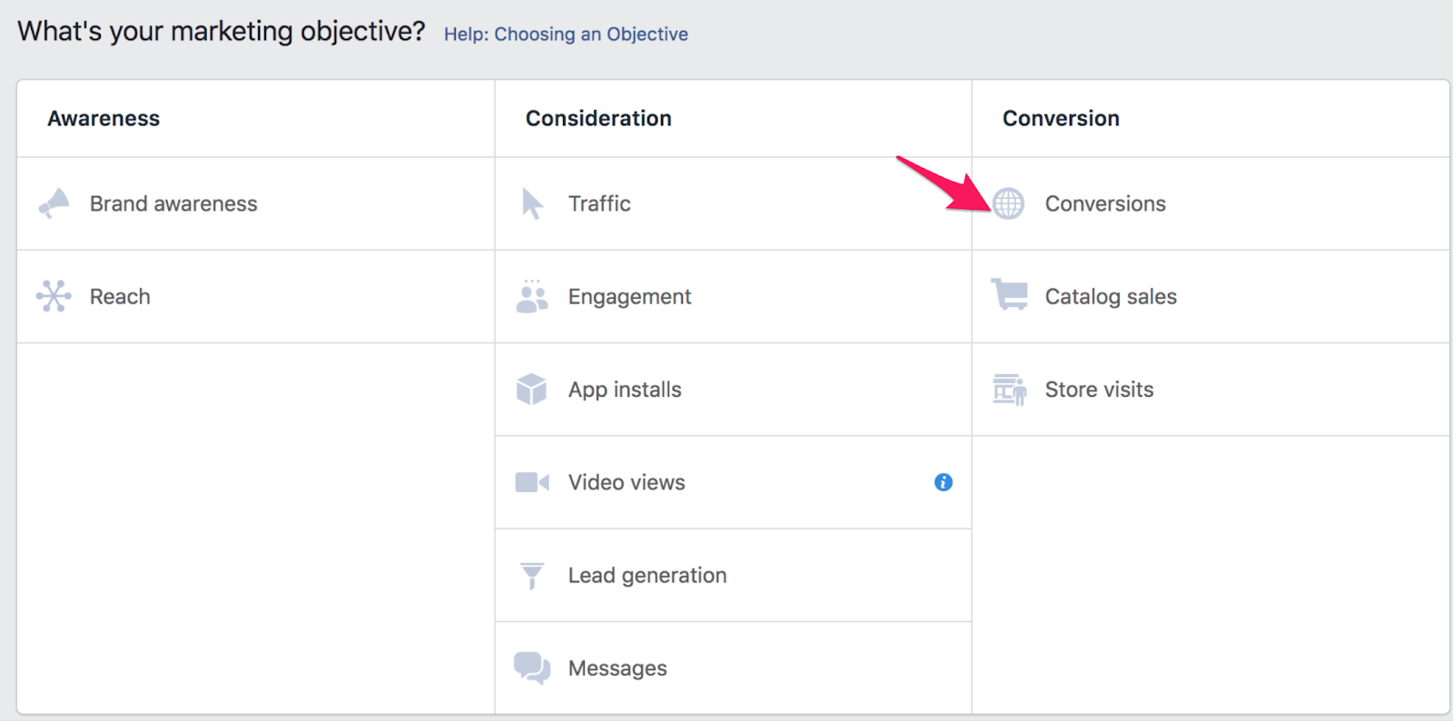 32 facebook conversion objective