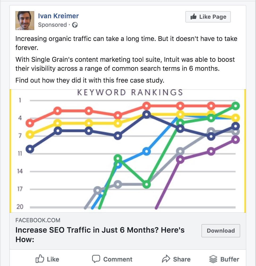 37 single grain facebook ad