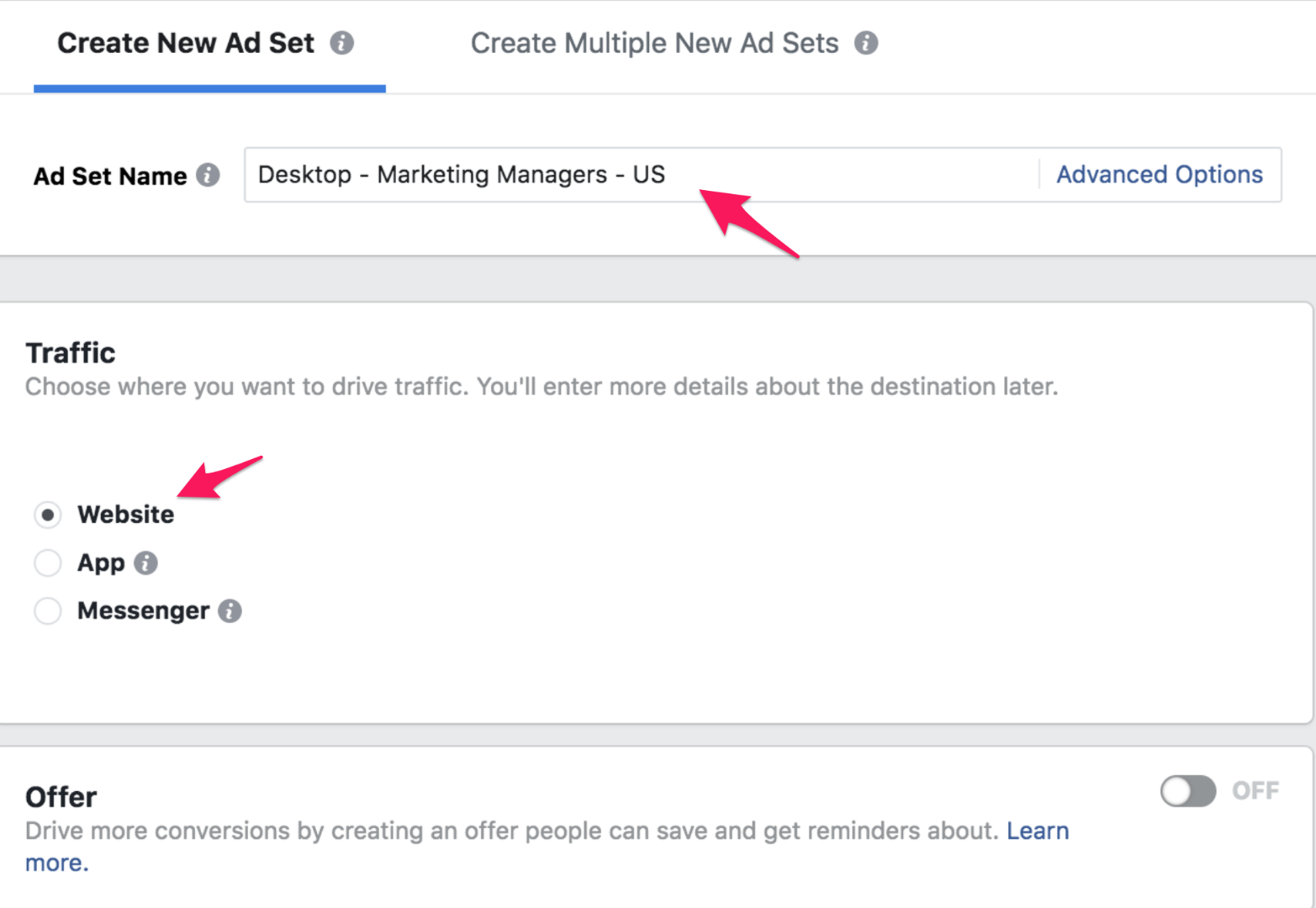 4 facebook ad group
