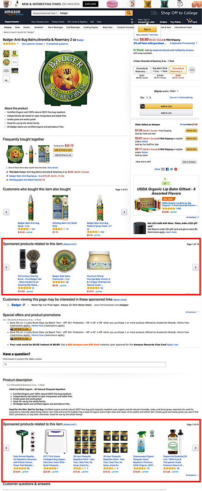 Amazon Sponsored Product Ads