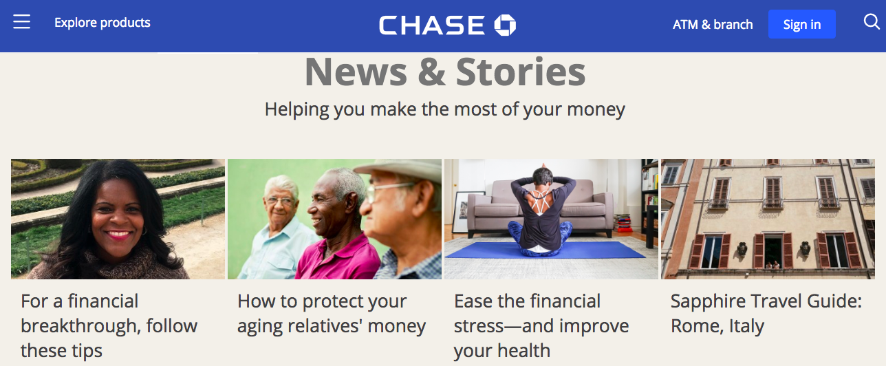 Chase company blog
