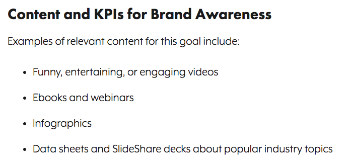 KPIs for brand awareness
