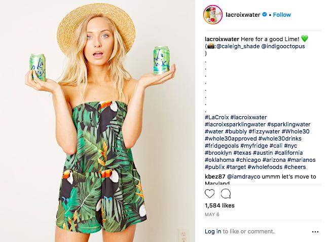 LaCroix water Instagram