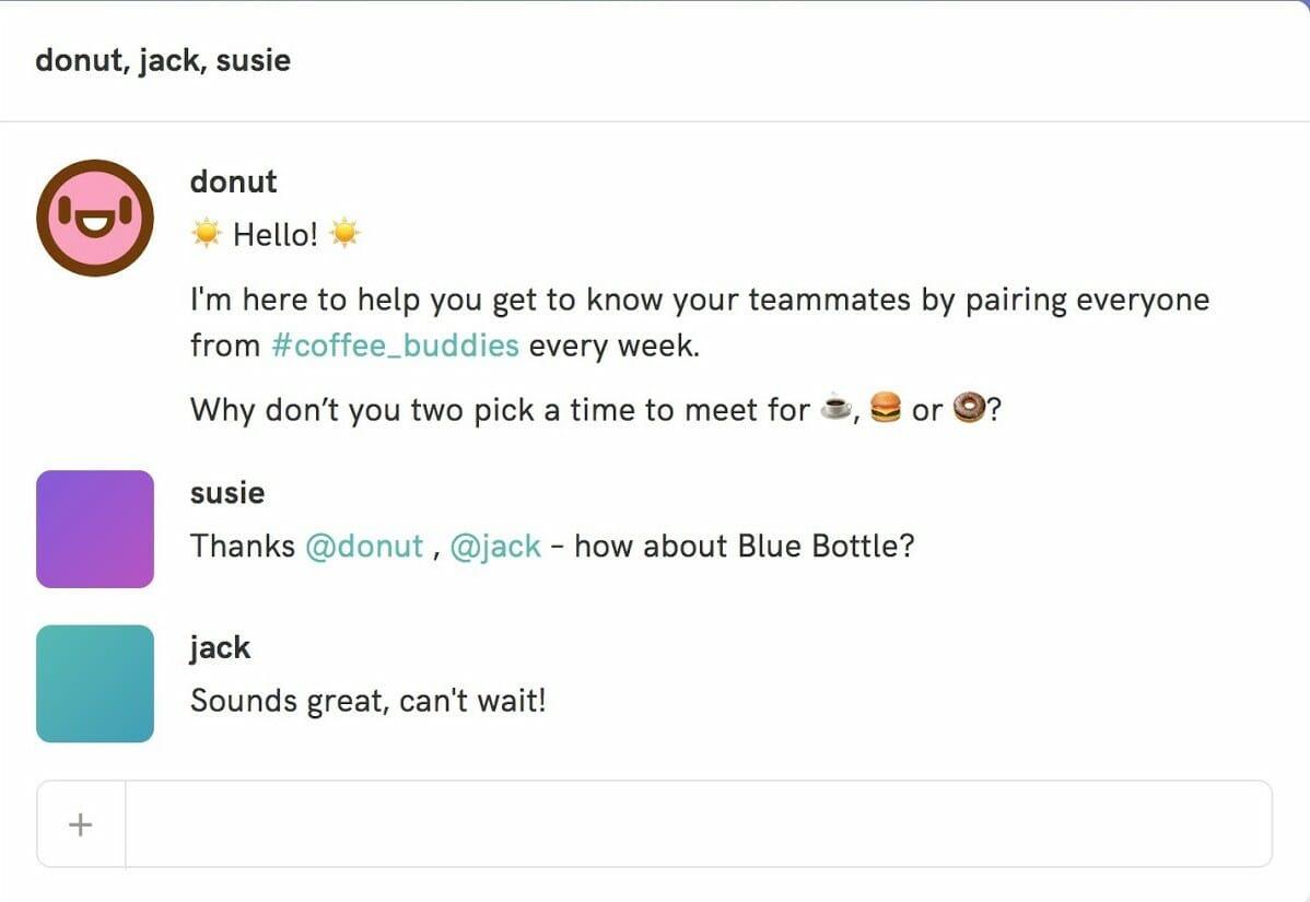 Slack chatbot donut
