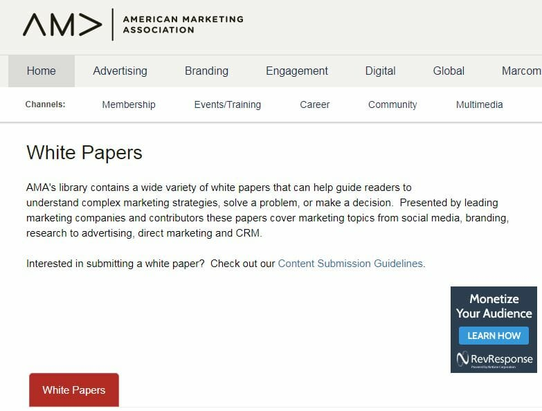 Submission magazines library in your niche