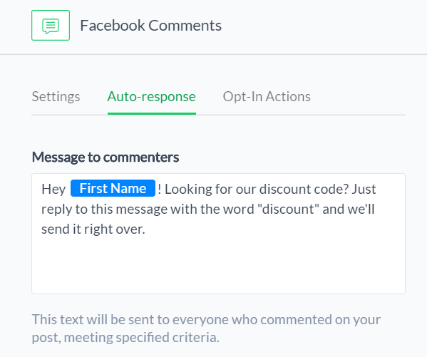 How to build a list of messenger subscribers with facebook comment this message tells people exactly what they need to do in order to receive the discount code beneath this you will most likely see a couple warnings from fandeluxe Image collections