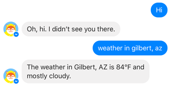 poncho weather chatbot