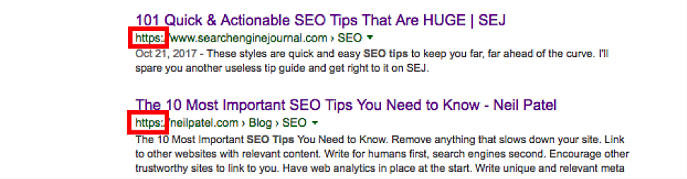 https in the serps