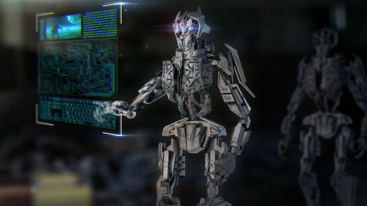 AI robot finding solutions