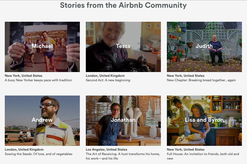 Airbnb community stories