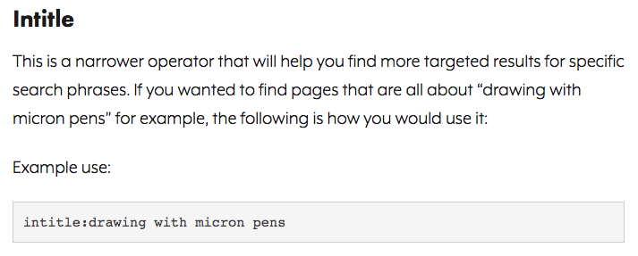 Google search operator intitle