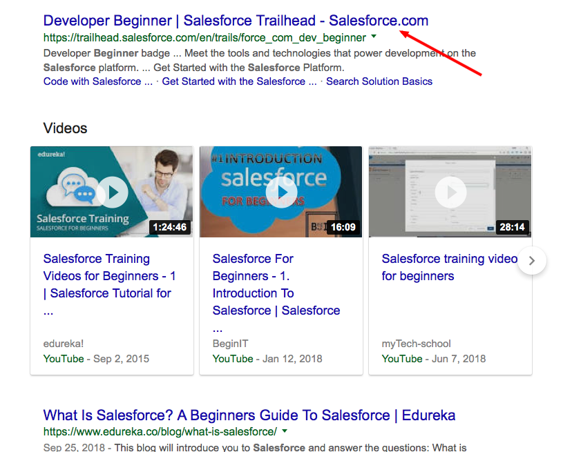Results for salesforce for beginners