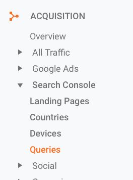 Google Analytics - Queries