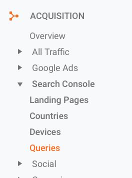 Google Analytics - Queries