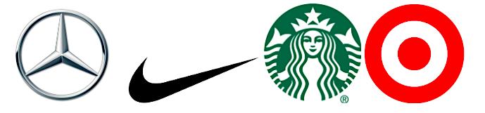 Popular brand logos