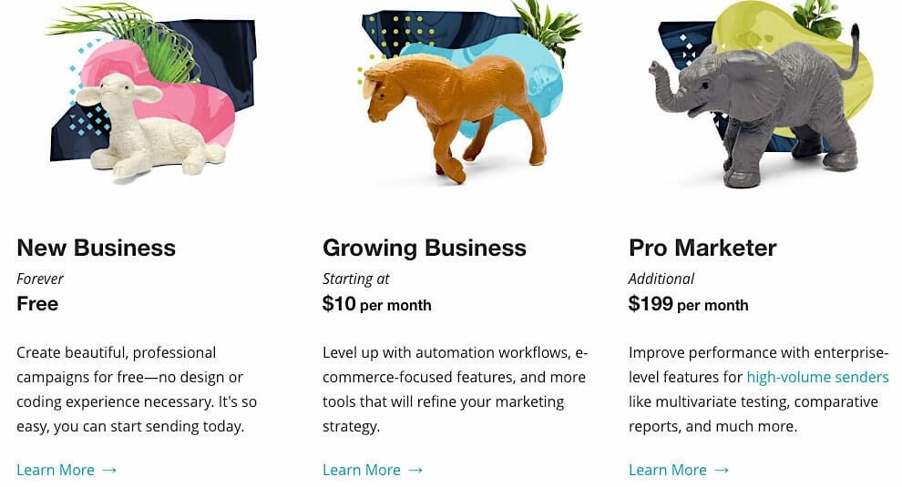 Mailchimp product tiering