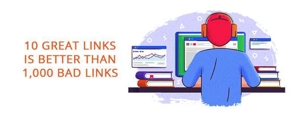 10 great links better than 1000 poor links