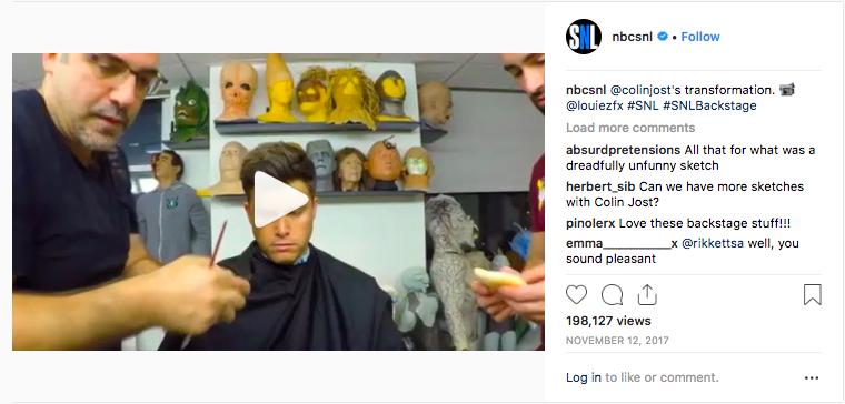 SNL Instagram behind the scenes