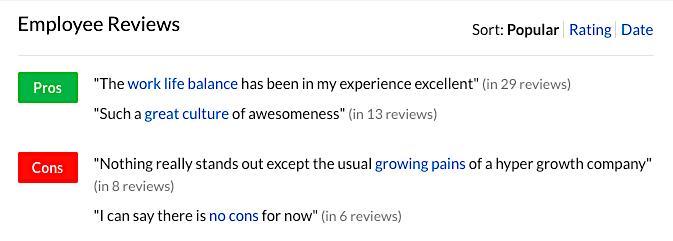 Slack employee reviews