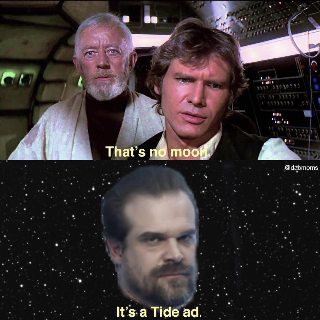 That's no moon, it's a Tide ad