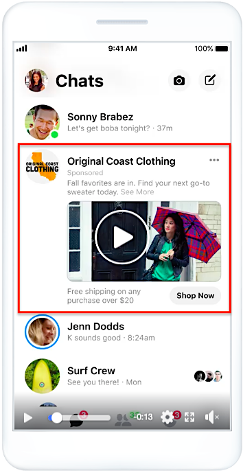 FB messenger ads
