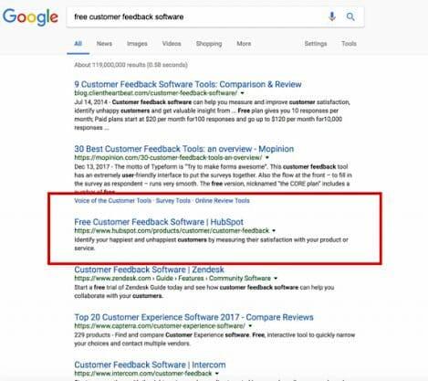 HubSpot ranking