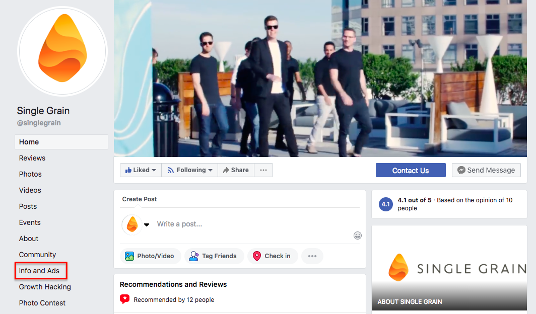Info & Ads on FB