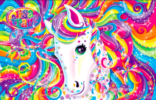 Lisa Frank Design unicorns