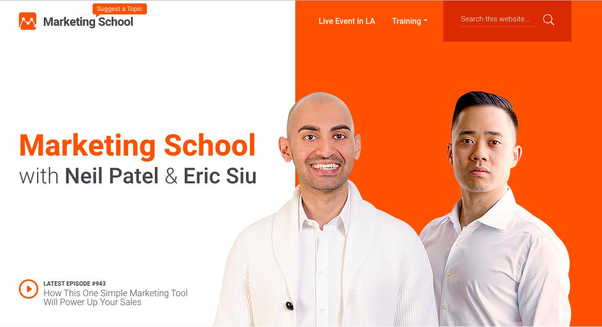 Escuela de marketing con Neil Patel y Eric Siu