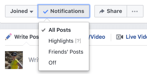 FB group notifications