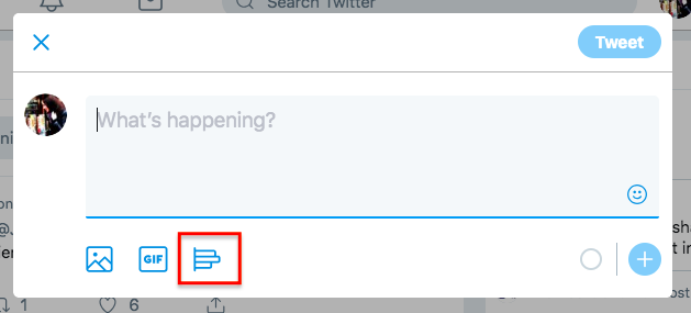 Create Twitter poll