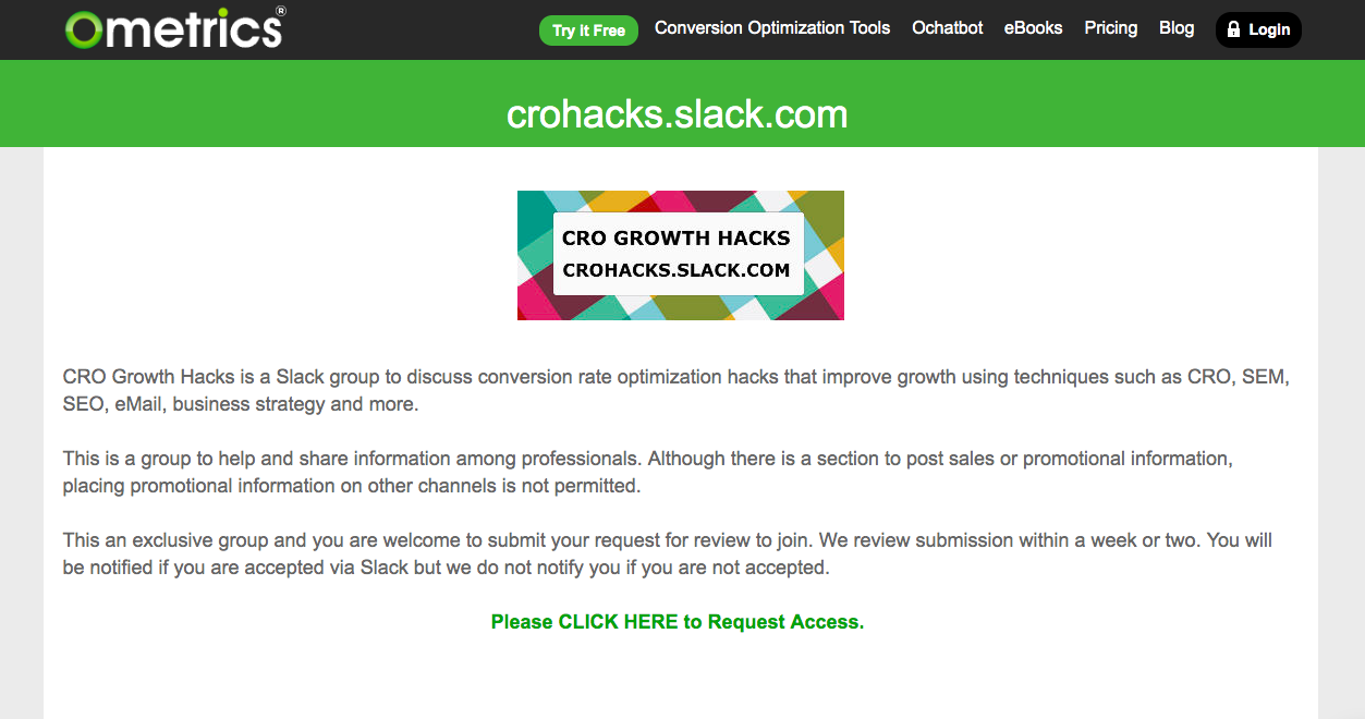 CRO Growth Hacks