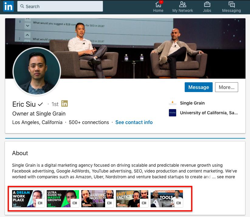 LinkedIn Eric Siu