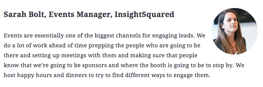 Sarah Bolt, Events Manager, InsightSquared
