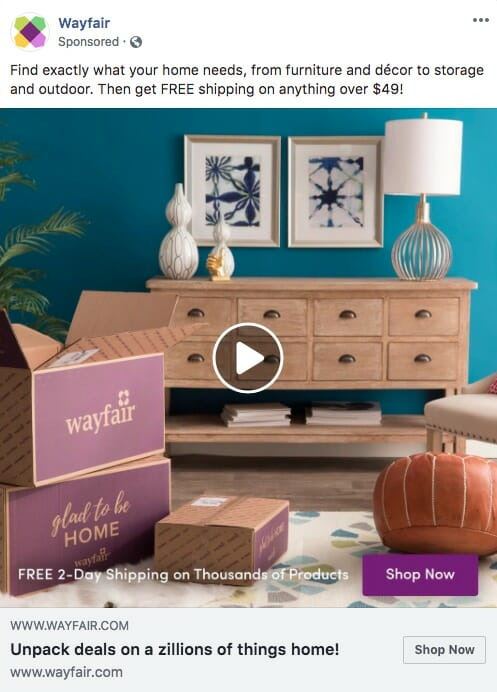 Wayfair ad