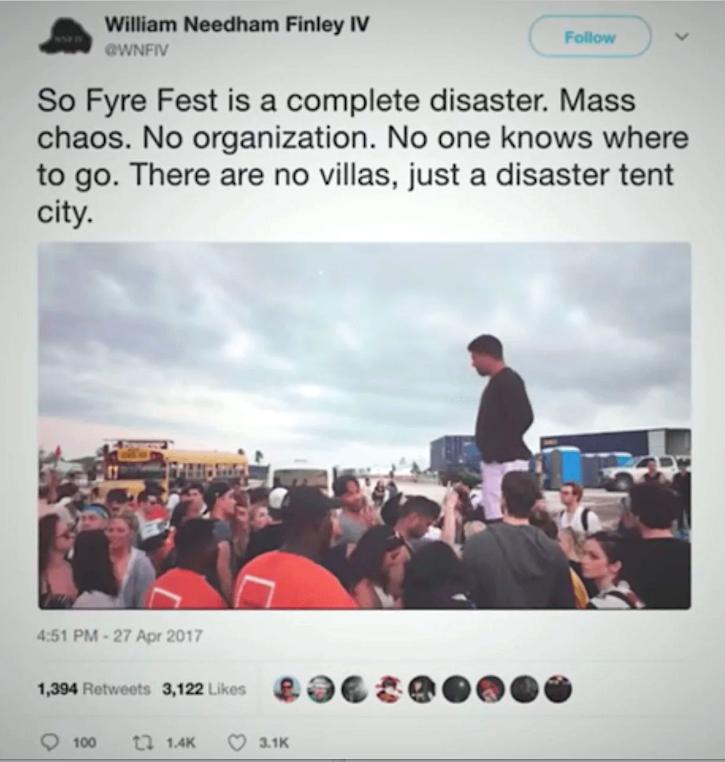 Fyre Fest disaster