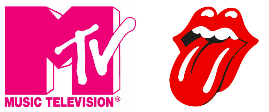 MTV and The Rolling Stones logos