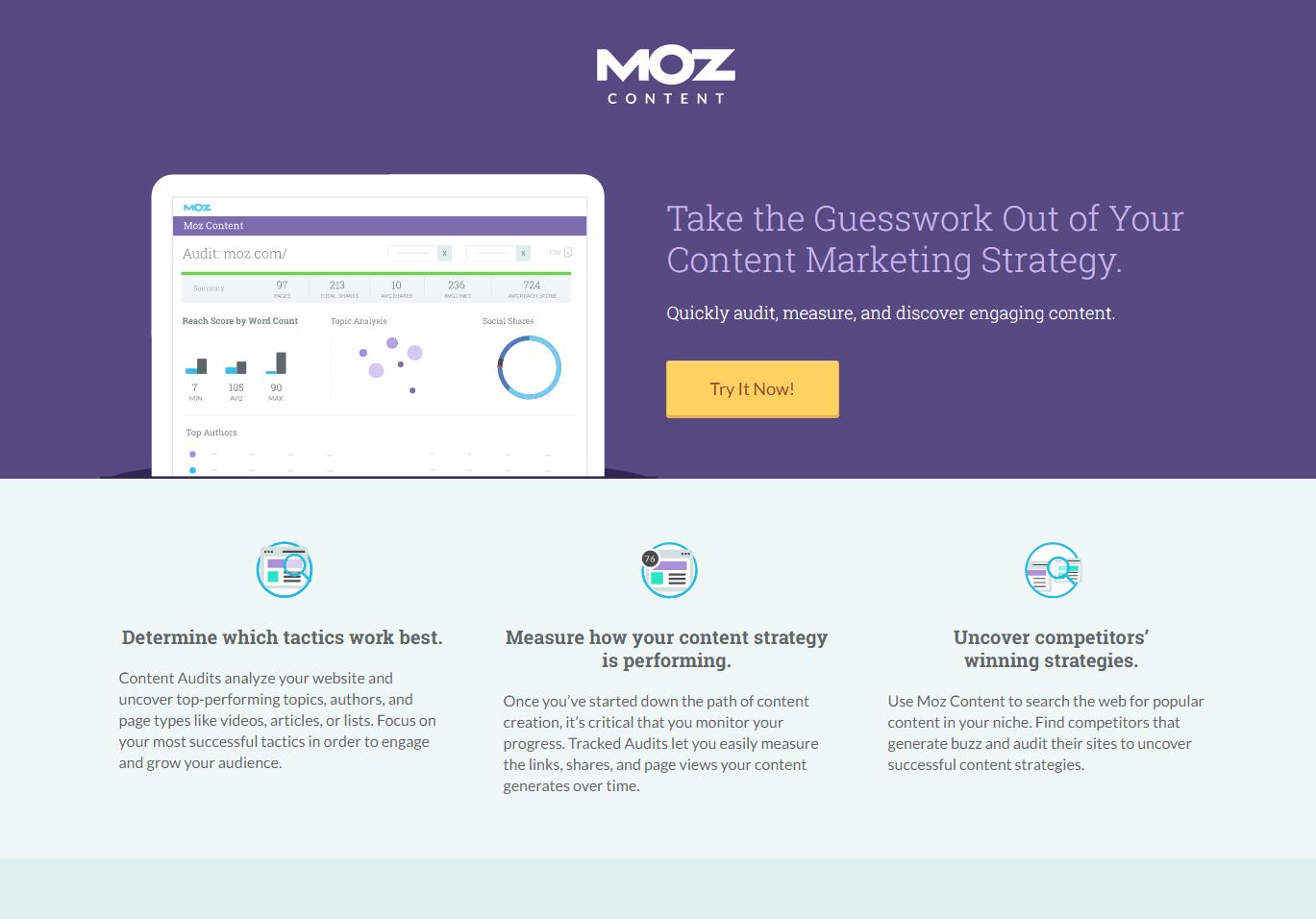 moz landing page