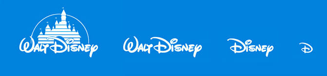 different Disney logos