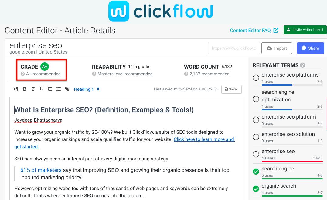 Clickflow Content Editor