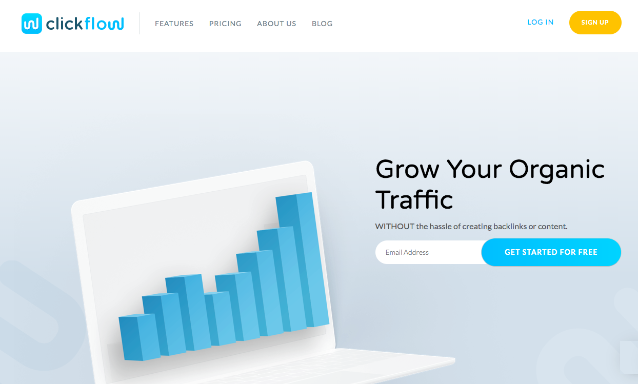 Clickflow homepage