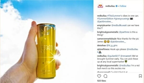 Red Bull Summer Edition tropical energy drink