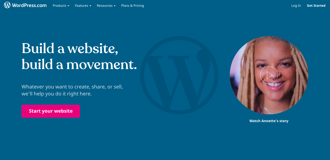 WordPress dot com