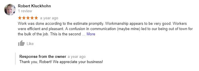 gmb review response